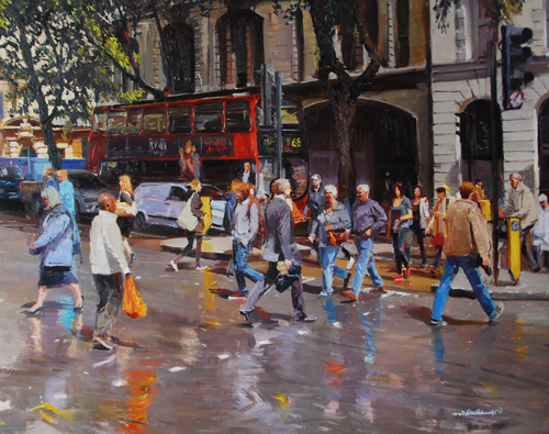 Adebanji Alade, Oil , London Paintings