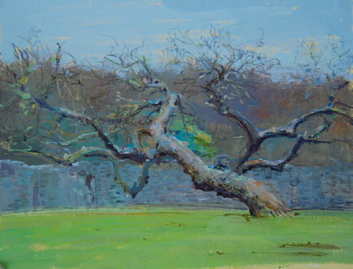"The Mulberry Tree, Abbey Lesnes, 10"" x 8"", Mixed Media on Mountboard"