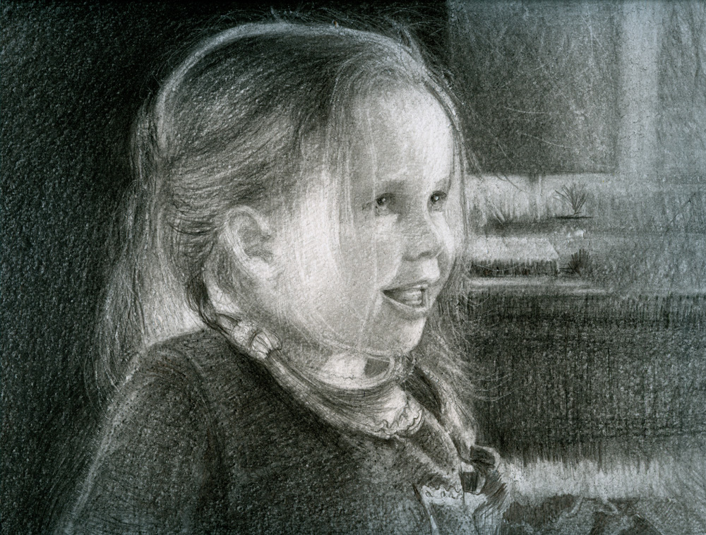 "Gracie, 10"" x 8"", Graphite"