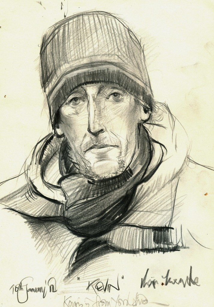 """Kevin, 11"""" x 8"""", Oil Base Pencil on Paper"""