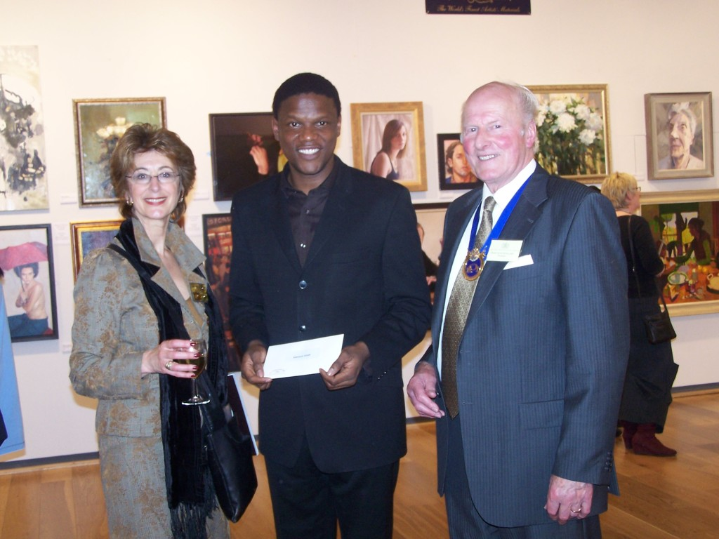 Receiving The First Prize at the ROI 2007 Winsor & Newton Young Painters Category