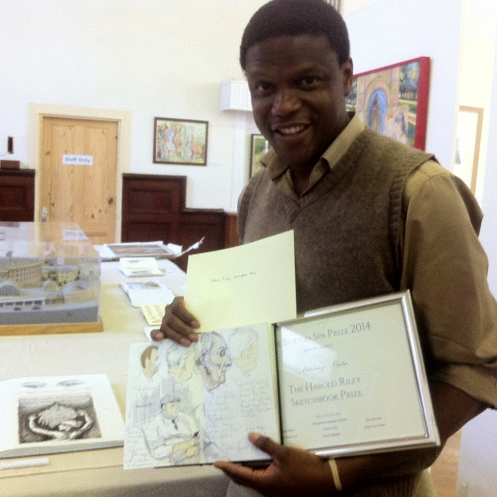 Winning the Harold Riley Sketchbook Prize at the Buxton Art Prize 2014