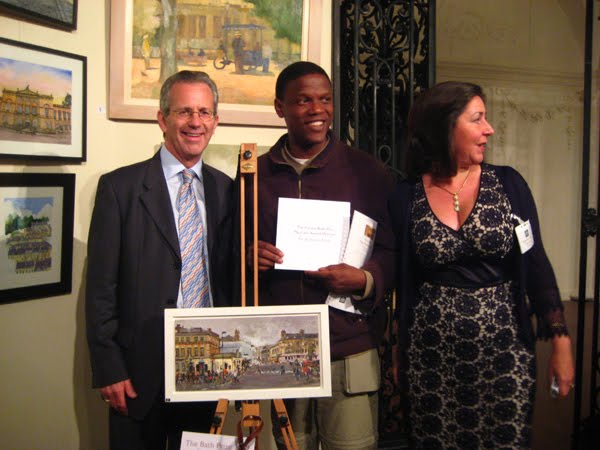 Winning the First Prize for Plein Air Work in The Bath Prize 2009