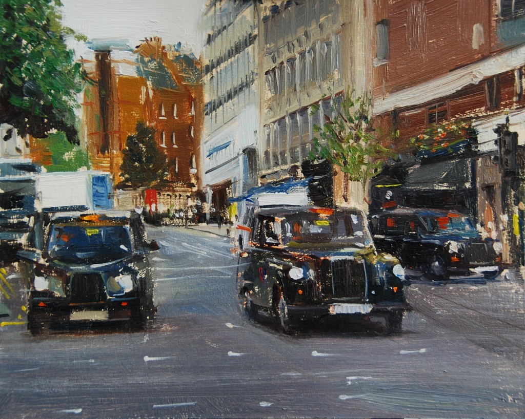 3 Black cabs,  St Martins Upper Lane