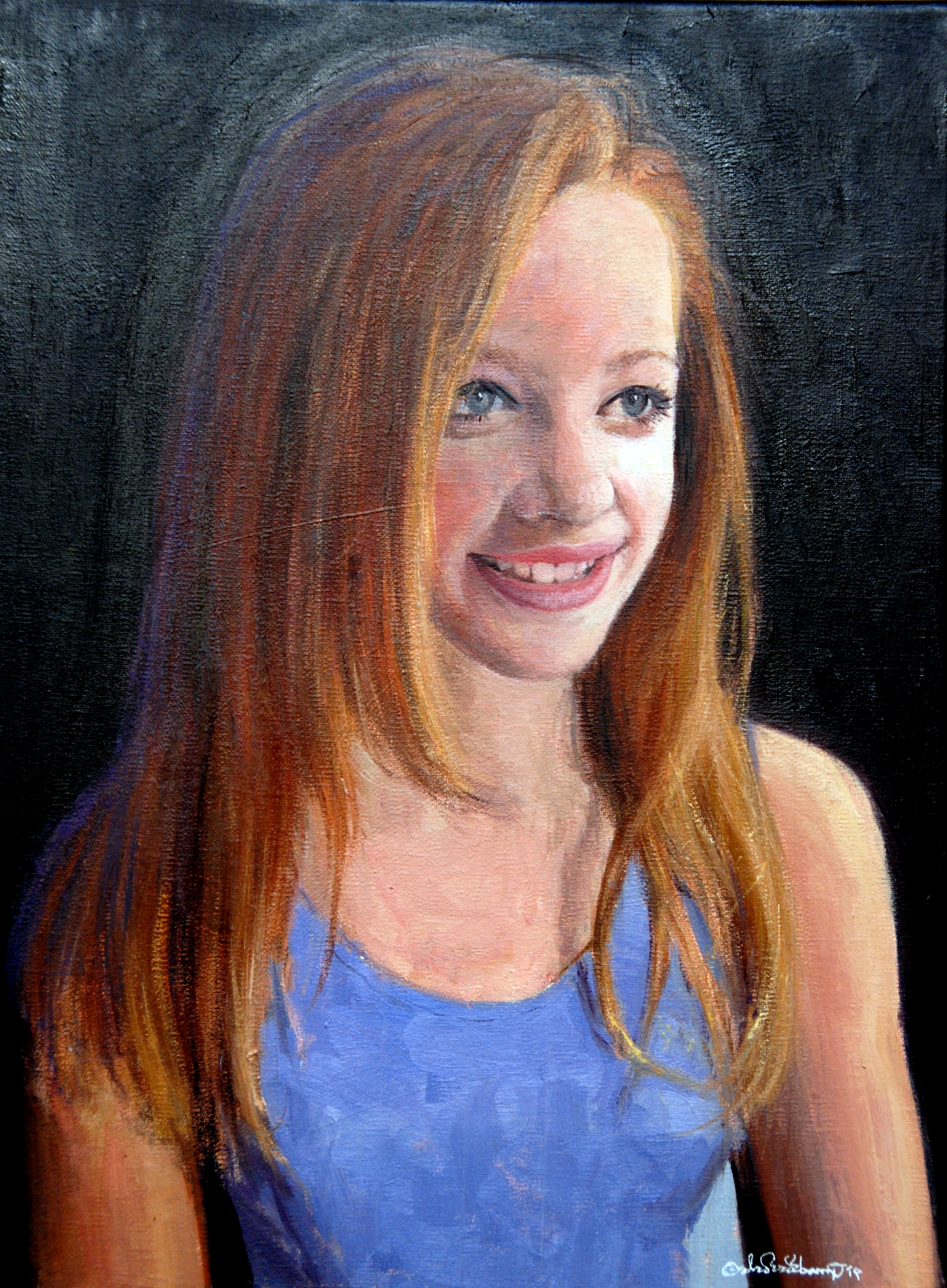 "Megan, Oil on canvas, 12"" x 16"""