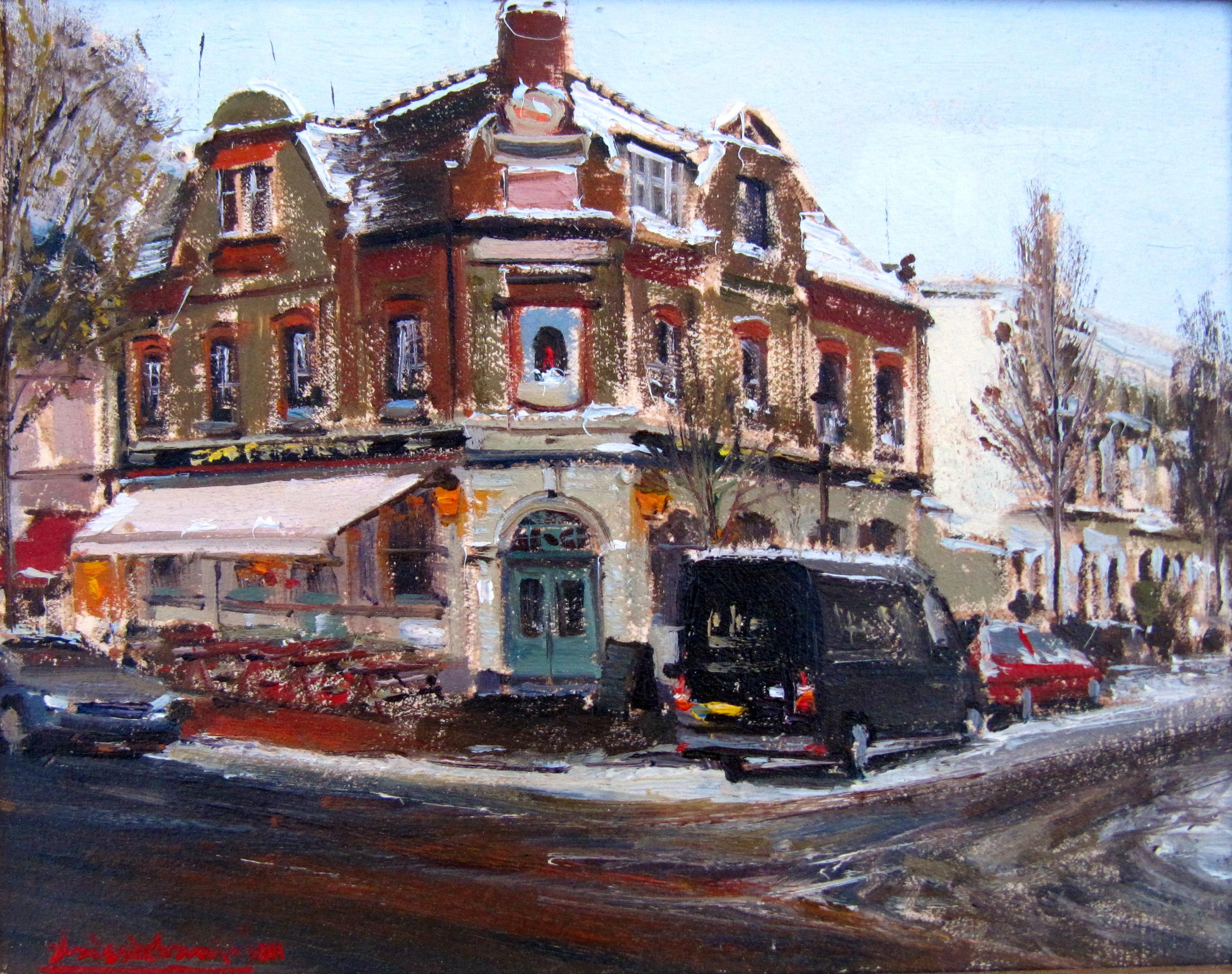 The Chelsea ram in snow