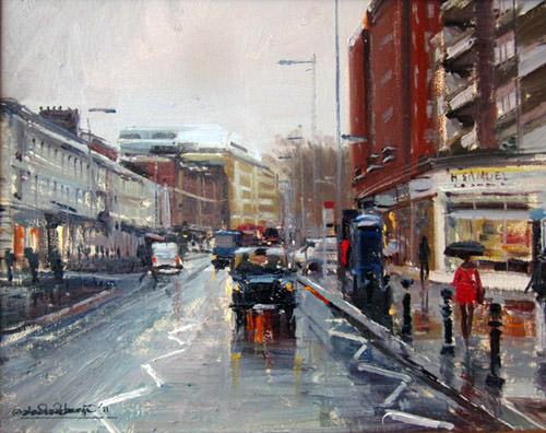 Rain, Kings Road, Chelsea