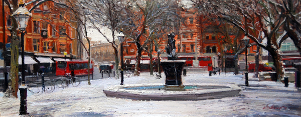Sloane Square The Day it snowed