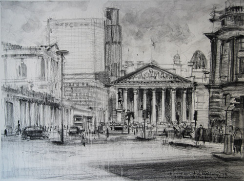 Sketch of Royal Exchange