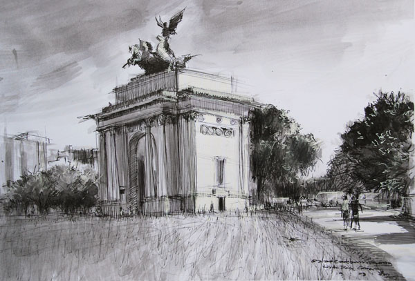 Sketch of Wellington Arch