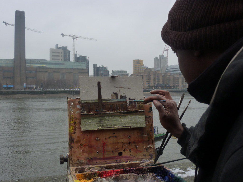 Adebanji paiting at Tate Modern