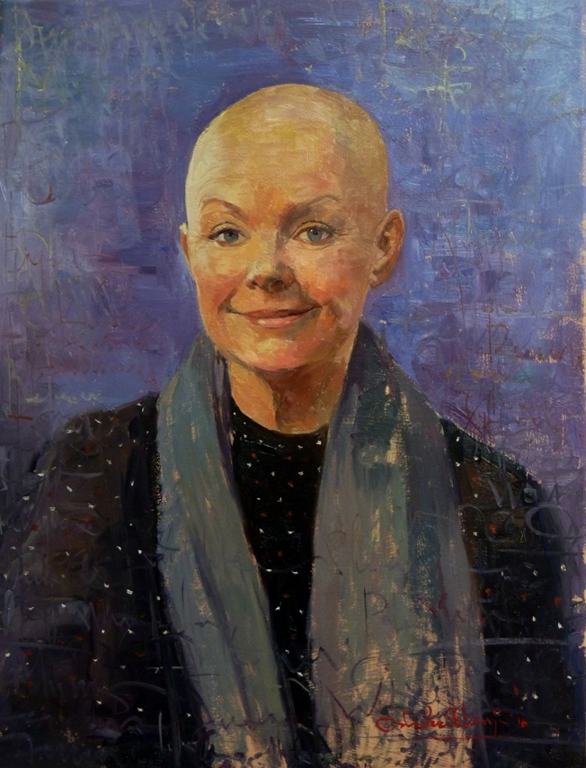 "Gail Porter, 18"" x 24"", Oil on Canvas-As Seen on The One Show, BBC One."