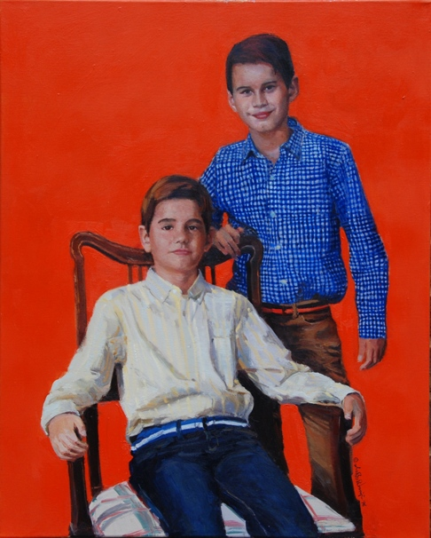 "The Formal Sitting,  24"" x 30"", Oil on Canvas"