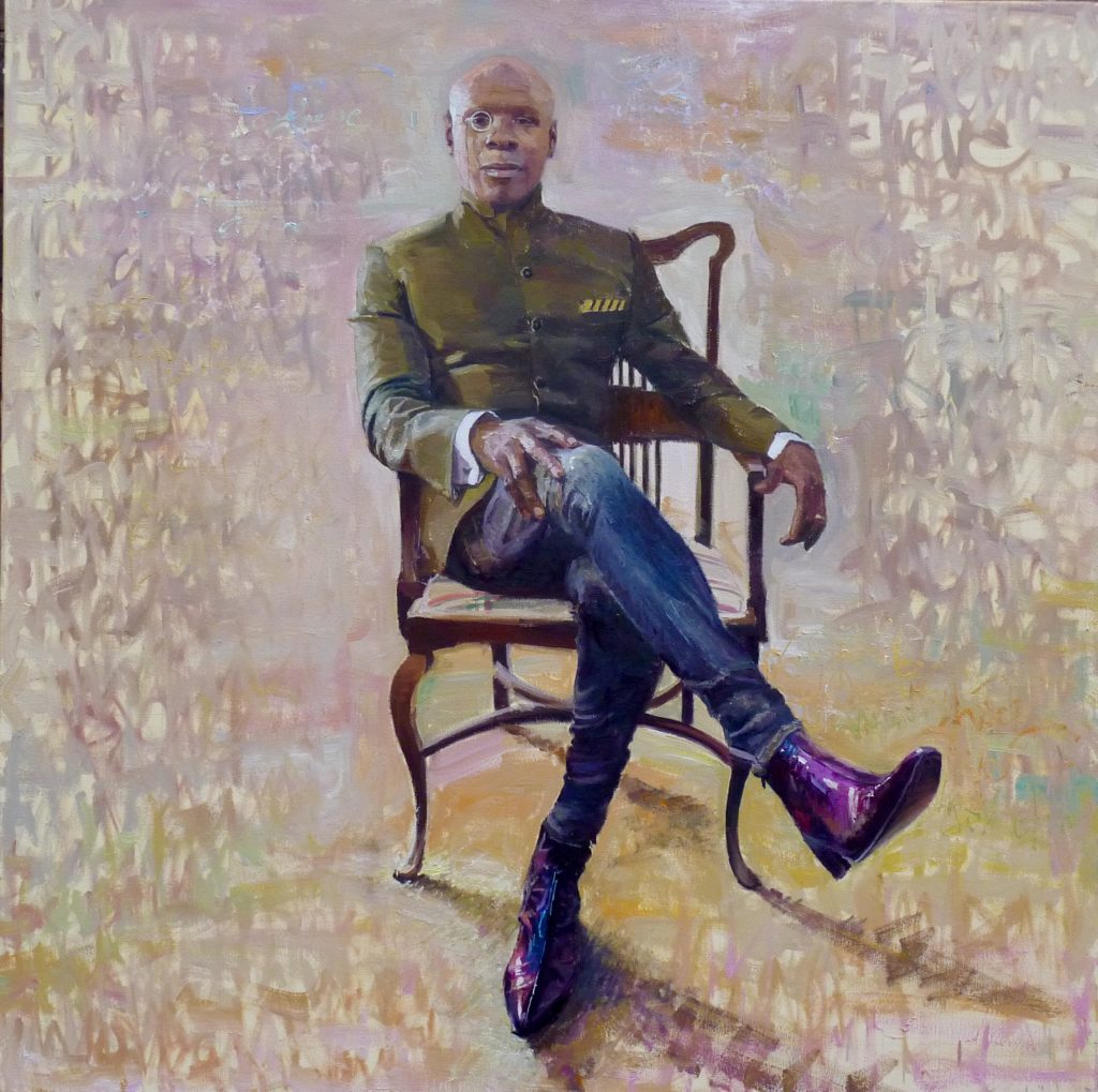 "Chris Eubank, 39"" x 39"", Oil on Canvas, As Seen on BBC One The One Show"