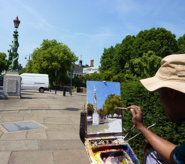 Adebanji painting Chelsea Embankment I