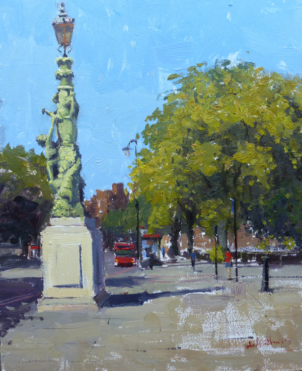 Summerlight Chelsea Embankment II, Oil on Board, 2017, £1800